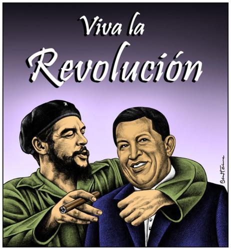 Cartoon: Che Guevara and Hugo Chavez (medium) by BenHeine tagged ...