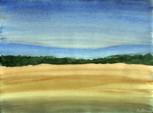 Cartoon: Watercolour Landscape Study 2 (medium) by BenHeine tagged watercolour,landscape,study,ben,heine,painting,peinture,colors,aquarelle,pinetrees,sapins,watercolor,soft,doux,pastel,blend,mix,nature,wild,hues,tones,sauvage,countryside,campagne,travel,voyage,freedom,liberte,path,chemin,bush,buisson,atmosphere