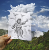 Cartoon: 5 - Pencil Vs Camera for AOC (small) by BenHeine tagged cesaria,evora,pencil,vs,camera,ben,heine,benheine,cape,verde,cap,vert,art,drawing,photography,singer,song,music,africa,afrique,micro,cloud,cloudy,nuage,dove,colombe,bird,oiseau,blue,blues,morna,fado,portuguese,culture,mountain,island,capvert