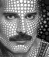 Cartoon: Freddie Mercury (small) by BenHeine tagged art,freddiemercury,freddie,mercury,music,ben,heine,benheine,cercles,circles,digital,circlism,performer,portrait,queen,persona,singer,songwriter,texture,eyes,regard,look,dancer,moustache,blackandwhite,theartistery,dots