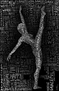 Cartoon: The Dancer (small) by BenHeine tagged the,dancer,woman,grace,harmony,ben,heine,move,body,corps,calligraphy,typography,dance,femme,sport,art,theartistery