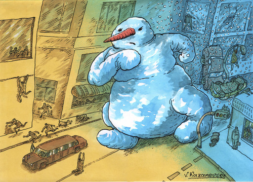 Cartoon: Winter (medium) by Kazanevski tagged no