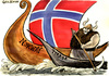 Cartoon: Norway (small) by Christo Komarnitski tagged norway,terror,viking