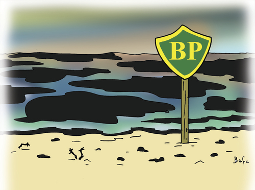 Cartoon: BP kills the see (medium) by Farhad Foroutanian tagged oil
