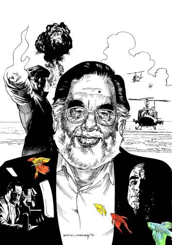 Cartoon: Francis Coppola (medium) by Eoin tagged famous,people,caricatures,cinema