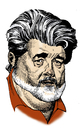 Cartoon: George Lucas (small) by Eoin tagged caricatures,celebrities,hollywood,directors