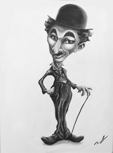 Cartoon: Charles Chaplin (medium) by Fredy tagged charles,chaplin,charlot