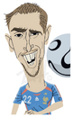 Cartoon: Franck Ribeiry (small) by Zach tagged soccer,worldcup,2010,sports,france