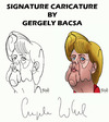 Cartoon: Angela Merkel (small) by bacsa tagged merkel