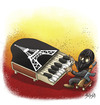 Cartoon: NO COMMENT (small) by bacsa tagged no,comment