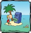 Cartoon: Urlaub auf ner Insel (small) by Clemens tagged sommerurlaub,insel,inselwitz,strand,sonne,meer,palme,wc,klo