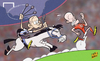 Cartoon: Argentina hustle Netherlands out (small) by omomani tagged argentina,arjen,robben,javier,mascherano,netherlands,world,cup,2014