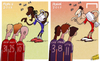 Cartoon: Bayern revenge in Super Cup (small) by omomani tagged arjen,robben,ashley,cole,bastian,schweinsteiger,bayern,munich,champions,league,chelsea,drogba,lampard,oscar,suarez,super,cup,thomas,muller