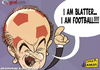 Cartoon: Blatter the Football (small) by omomani tagged sepp,blatter,fifa,election,football,soccer