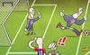 Cartoon: Neuer unleashed (small) by omomani tagged arjen,robben,bayern,munich,neuer,reina,ribery