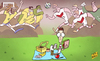 Cartoon: Ozil slammed (small) by omomani tagged brazil,david,luiz,germany,hulk,neuer,oscar,ozil,philipp,lahm,thomas,muller,toni,kroos,world,cup,2014