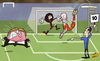 Cartoon: Robben dive sinks fuming Mexico (small) by omomani tagged arjen,robben,guillermo,ochoa,mexico,miguel,herrera,netherlands,pedro,proenca,world,cup,2014