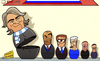 Cartoon: Russia manager candidates (small) by omomani tagged capello,guardiola,lippi,mancini,marcelo,bielsa,redknapp,russia
