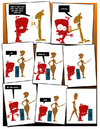 Cartoon: Shy Person (small) by omomani tagged shy,girl,advice,love,courage,comic,strip,colors