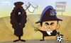 Cartoon: Wenger surrenders (small) by omomani tagged arsenal,everton,premier,league,roberto,martinez,wenger