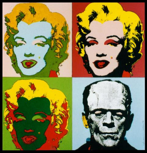 Cartoon: The beauty and the beast (medium) by willemrasingart tagged andy,warhol,,the