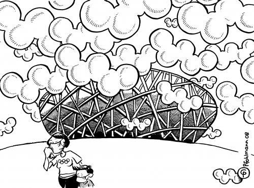 Smog (medium) by Pfohlmann tagged olympia,olympiade,sommerspiele,smog ...