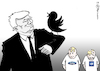 Cartoon: Trump - DER VOGEL (small) by Pfohlmann tagged karikatur,cartoon,2017,color,farbe,usa,global,trump,twitter,vögel,hitchcock,film,kino,kinofilm,autoindustrie,gm,ford,industrie,kurznachrichten,regierungsstil