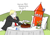 Cartoon: Trumps Mutterkuchen (small) by Pfohlmann tagged karikatur,cartoon,2017,color,farbe,usa,trump,präsident,mutter,aller,bomben,bombardierung,afghanistan,schokokuchen,interview,ostern,kaffee,kuchen,mutti