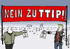 Cartoon: TTIP Neins (small) by Pfohlmann tagged karikatur,cartoon,2016,color,farbe,deutschland,usa,eu,freihandelsabkommen,ttip,demonstrationen,demonstranten,links,rechts,einig,nein,zu,dir,widerstand,proteste,demo,großdemonstration,linke,rechte