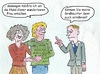 Cartoon: Senioren Liebe (small) by sabine voigt tagged senioren,liebe,ehe,enkel,familie,heirat,generationen