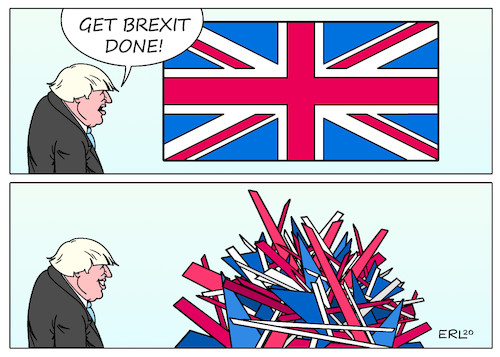 Cartoon: Brexit done (medium) by Erl tagged politik,brexit,done,austritt,großbritannien,gb,uk,eu,premierminister,boris,johnson,brexiteers,lügen,zukunft,freiheit,scherbenhaufen,spaltung,zerrissenheit,flagge,karikatur,erl,politik,brexit,done,austritt,großbritannien,gb,uk,eu,premierminister,boris,johnson,brexiteers,lügen,zukunft,freiheit,scherbenhaufen,spaltung,zerrissenheit,flagge,karikatur,erl
