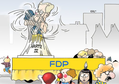 Cartoon: Der Narr ist los (medium) by Erl tagged fdp,westerwelle,hartz,iv,kritik,isolation,karneval,rosenmontag,umzug,fasching,fasnacht,fdp,guido westerwelle,hartz,iv,kritik,isolation,karneval,rosenmontag,umzug,fasching,fasnacht,arbeit,job,guido,westerwelle