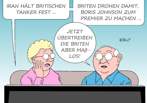 Cartoon: Eskalation (medium) by Erl tagged politik,konflikt,usa,iran,atomabkommen,ausstieg,präsident,donald,trump,sanktionen,erdöl,tanker,öltanker,stopp,großbritannien,gibraltar,vergeltung,straße,von,hormus,brexit,tories,wahl,parteivorsitz,boris,johnson,premierminister,rechtspopulist,drohung,eskalation,karikatur,erl,politik,konflikt,usa,iran,atomabkommen,ausstieg,präsident,donald,trump,sanktionen,erdöl,tanker,öltanker,stopp,großbritannien,gibraltar,vergeltung,straße,von,hormus,brexit,tories,wahl,parteivorsitz,boris,johnson,premierminister,rechtspopulist,drohung,eskalation,karikatur,erl