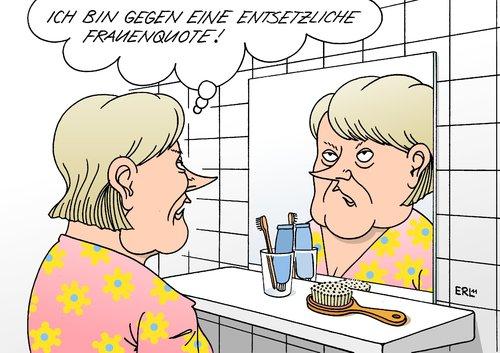 Frauenquote de erl politique cartoon toonpool for Spiegel cartoon