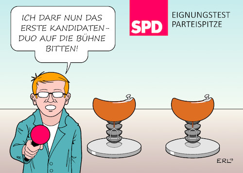 Cartoon: SPD Eignungstest (medium) by Erl tagged politik,spd,partei,suche,vorsitzende,parteichef,parteichefin,parteispitze,kandidaten,kandidatinnen,duo,bewerbung,tour,casting,rodeo,karikatur,erl,politik,spd,partei,suche,vorsitzende,parteichef,parteichefin,parteispitze,kandidaten,kandidatinnen,duo,bewerbung,tour,casting,rodeo,karikatur,erl