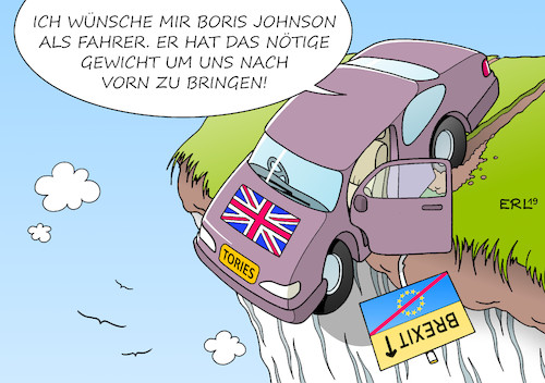 Cartoon: Tories (medium) by Erl tagged politik,austritt,großbritannien,gb,uk,eu,versagen,premierministerin,theresa,may,rücktritt,nachfolger,parteivorsitz,tories,kandidat,boris,johnson,no,deal,harter,brexit,auto,klippe,fahrer,gewicht,europa,karikatur,erl,politik,austritt,großbritannien,gb,uk,eu,versagen,premierministerin,theresa,may,rücktritt,nachfolger,parteivorsitz,tories,kandidat,boris,johnson,no,deal,harter,brexit,auto,klippe,fahrer,gewicht,europa,karikatur,erl
