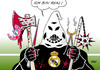 Cartoon: Bayern München (small) by Erl tagged bayern,münchen,fußball,champions,league,halbfinale,real,madrid,niederlage,qual,folter,realität,fan,fans