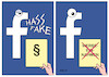 Cartoon: Facebook (small) by Erl tagged politik,internet,social,media,facebook,hass,kommentare,fake,news,recht,gesetz,egal,werbeeinnahmen,stornierung,kunden,reaktion,karikatur,erl