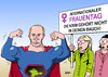 Cartoon: Frauentag (small) by Erl tagged frauentag,weltfrauentag,international,feminismus,frauenrechte,krim,ukraine,russland,putin,bauch,einverleiben,superman,stärke,demonstration