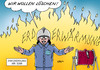Cartoon: Klimagipfel Abschluss (small) by Erl tagged klima,klimawandel,erderwärmung,klimagipfel,new,york,un,welt,erde,ankündigung,bekämpfung,feuer,feuerwehr,löschen