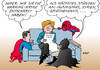 Cartoon: Superhelden unter sich (small) by Erl tagged angela merkel diplomatie ukraine krise krieg ostukraine entschärfen heldin superheld superman batman spiderman agenda islamismus syrien griechenland schulden euro banken finanzen karikatur erl
