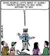 Cartoon: Nothing to see (small) by Tony Zuvela tagged policeman,move,it,along,theres,nothing,to,see,here,blank,background,people,public,rubber,neckers