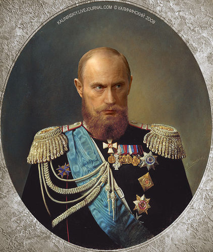 Cartoon: True Tsar Vladimir I (medium) by Kalininskiy tagged policy