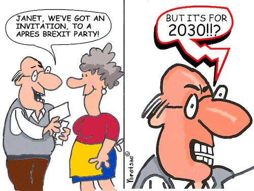 Cartoon: Apres Brexit Party (medium) by EASTERBY tagged brexit,politics,people