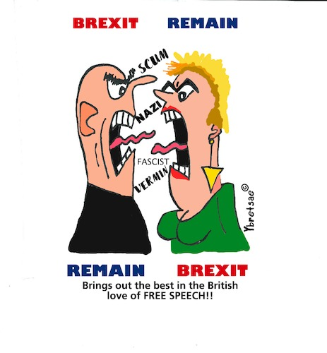 Cartoon: Brexit Abuse Political (medium) by EASTERBY tagged brexit,politics,people