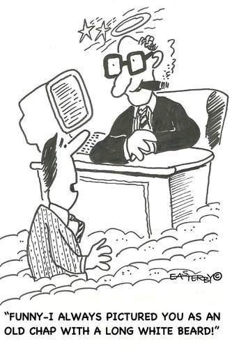 Cartoon: Not always like you thought! (medium) by EASTERBY tagged god,heaven,gott,himmel