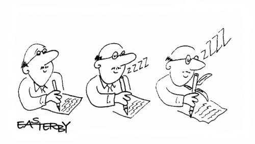 Cartoon: Peeennndcil...zzzzz (medium) by EASTERBY tagged pencils,