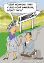 Cartoon: Always hoping (small) by EASTERBY tagged lourde miracle healing