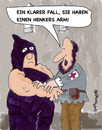 Cartoon: Henkers Arm (small) by EASTERBY tagged executions,first,aid