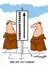 Cartoon: HOLY ORDERS 4 deutsch (small) by EASTERBY tagged monks halos heaven